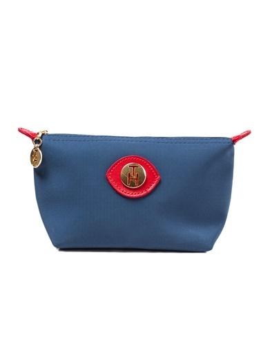 TH Bags TH Bags Fermuarlı Suni Deri Kadın Makyaj Çantası Renkli